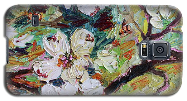 Dogwood Blossoms Oil Painting  Galaxy S5 Case