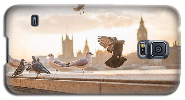 Doves And Seagulls Over The Thames In London Galaxy S5 Case