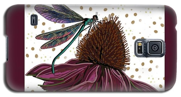 Dragon Fly And Echinacea Flower Galaxy S5 Case