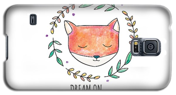 Dream On - Boho Chic Ethnic Nursery Art Poster Print Galaxy S5 Case