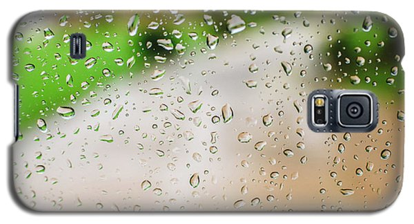 Drops Of Rain On An Autumn Day On A Glass. Galaxy S5 Case