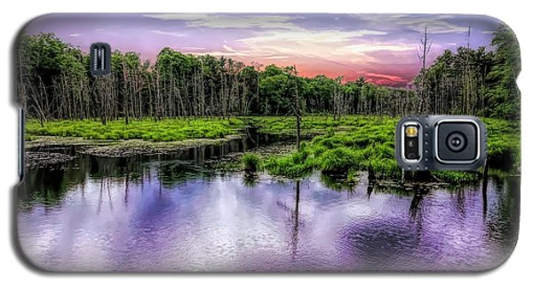 Dusk Falls Over New England Beaver Pond. Galaxy S5 Case