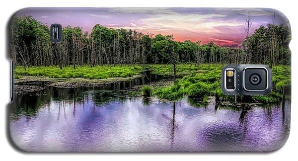 Dusk Falls Over New England Beaver Pond. Galaxy S5 Case