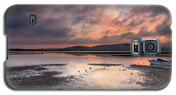 Dusky Pink Sunrise Bay Waterscape Galaxy S5 Case