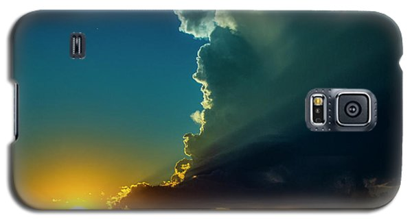 Dying Nebraska Thunderstorms At Sunset 068 Galaxy S5 Case