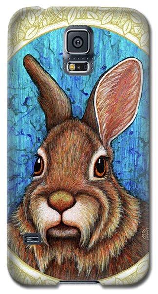 Eastern Cottontail Portrait - Cream Border Galaxy S5 Case