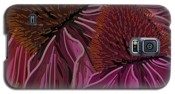 Echinacea Flower Blues Galaxy S5 Case