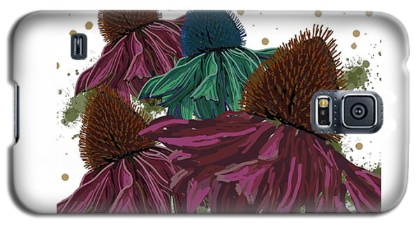 Echinacea Flower Skirts Galaxy S5 Case