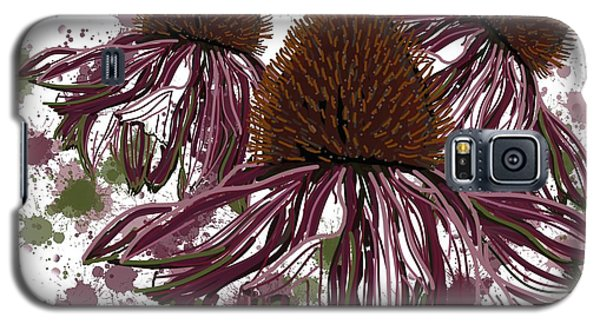 Echinacea Flowers Line Galaxy S5 Case