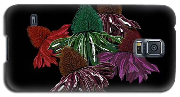 Echinacea Flowers With Black Galaxy S5 Case