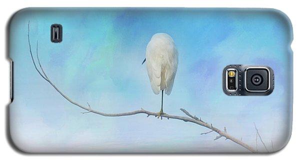 Egret On A Branch Galaxy S5 Case