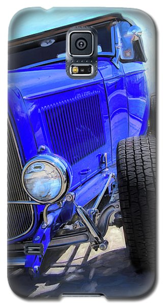 Electric Blue Hot Rod Roadster Galaxy S5 Case