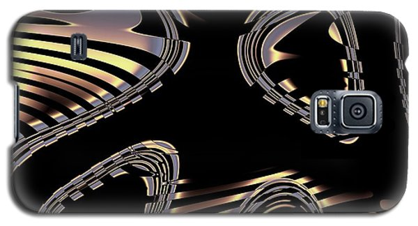 Elegant Black Fractal 2 Galaxy S5 Case