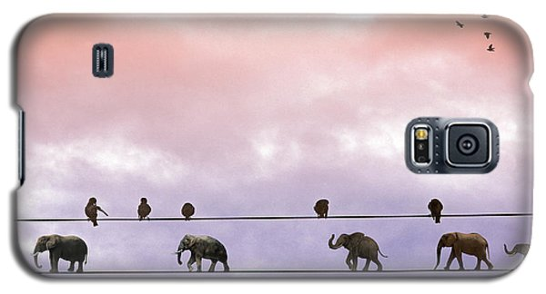 Elephants On The Wires Galaxy S5 Case