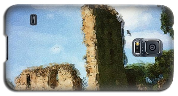 Elgin Cathedral Ruins Painting Galaxy S5 Case