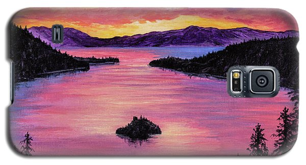 Emerald Bay Sunset Galaxy S5 Case