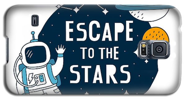 Escape To The Stars - Baby Room Nursery Art Poster Print Galaxy S5 Case