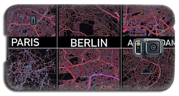 European Capital Cities Maps Galaxy S5 Case