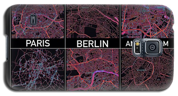 European Capital Cities Maps Galaxy S5 Case