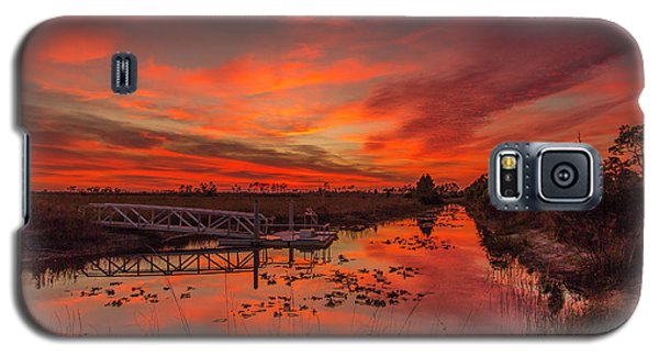 Explosive Sunset At Pine Glades Galaxy S5 Case