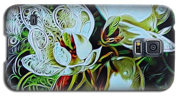 Magnolia Galaxy S5 Case - Extravagant Magnolias by Trudee Hunter