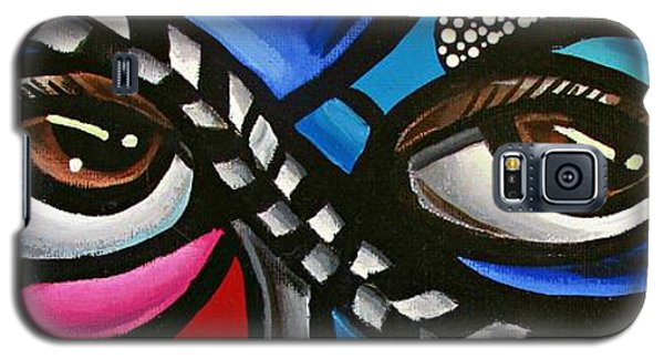 Eye Art Painting Abstract Chromatic Painting Electric Energy Artwork Galaxy S5 Case