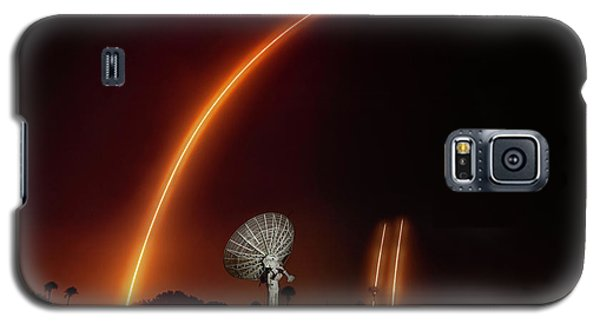 Falcon Heavy Night Launch And Landing Galaxy S5 Case