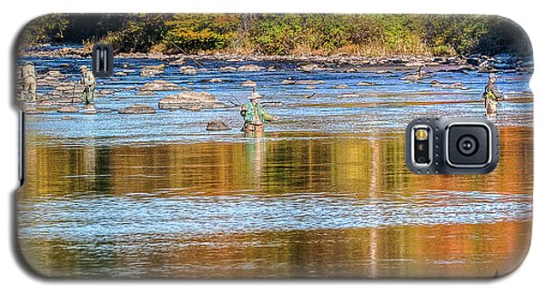 Fall Fishing Reflections Galaxy S5 Case