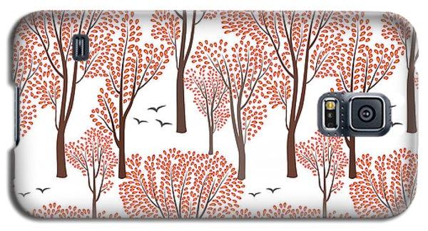 Branch Galaxy S5 Case - Fall Nature Wildlife Seamless Pattern by Yoko Design