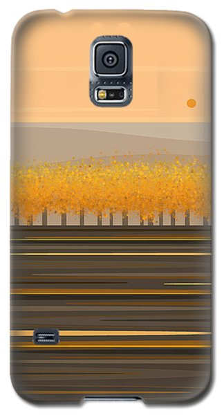 Fall Trees In A Row Galaxy S5 Case