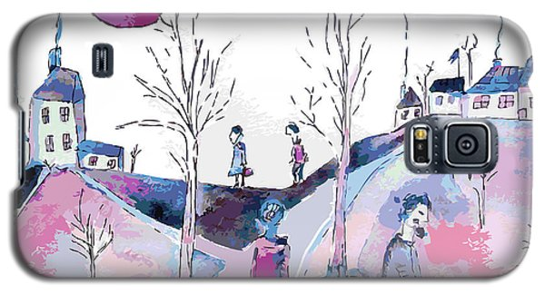 Branch Galaxy S5 Case - Fantastic Landscape With Sad People And by Tetyana Snezhyk