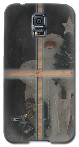 Father Christmas In Window Galaxy S5 Case