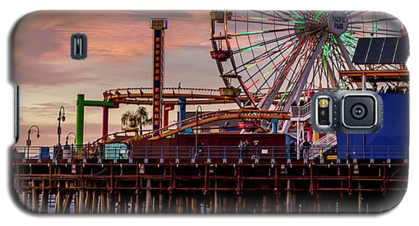 Ferris Wheel On The Pier - Square Galaxy S5 Case