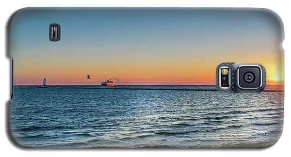 Ferry Going Into Sunset Galaxy S5 Case
