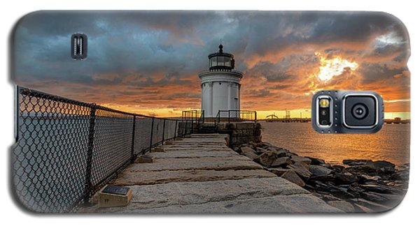 Fiery Skies At Bug Light Galaxy S5 Case