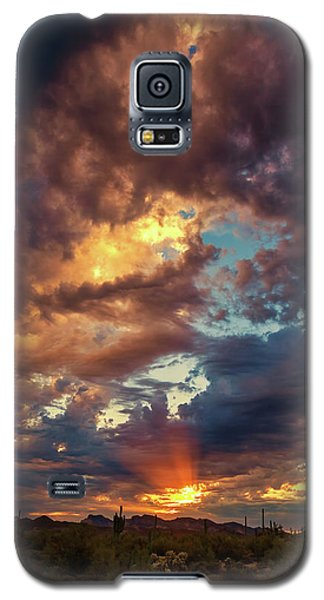 Finger Painted Sunset Galaxy S5 Case