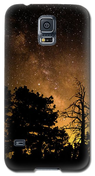 Fire And The Milky Way Galaxy S5 Case