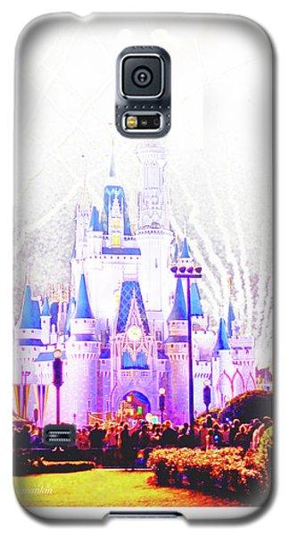 Fireworks, Cinderella's Castle, Magic Kingdom, Walt Disney World Galaxy S5 Case
