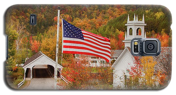 Flag Flying Over The Stark Covered Bridge Galaxy S5 Case
