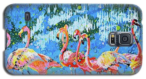 Flamingo Pat Party Galaxy S5 Case