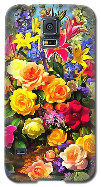 Floral Bouquet In Acrylic Galaxy S5 Case