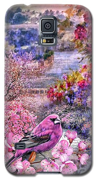 Floral Embedded Galaxy S5 Case