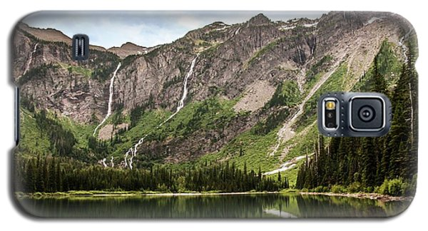 Floral Park Falls Monument Falls Avalanche Basin Falls Across Avalanche Lake Glacier National Park Galaxy S5 Case