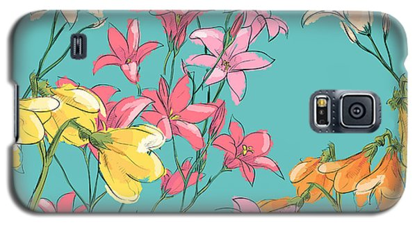 Branch Galaxy S5 Case - Floral Seamless Pattern. Sketch Style by R lion o