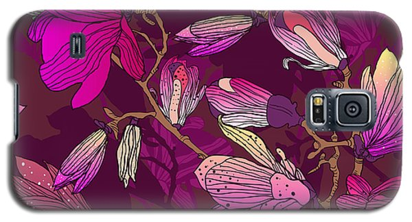 Branch Galaxy S5 Case - Floral Seamless Pattern With Drawing by Lola Tsvetaeva