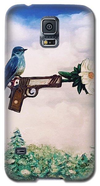 Flower In A Gun- Bluebird Of Happiness Galaxy S5 Case