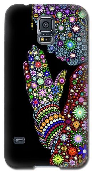 Flower Prayer Girl Galaxy S5 Case