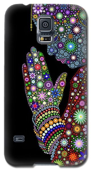 Flower Prayer Girl Galaxy S5 Case