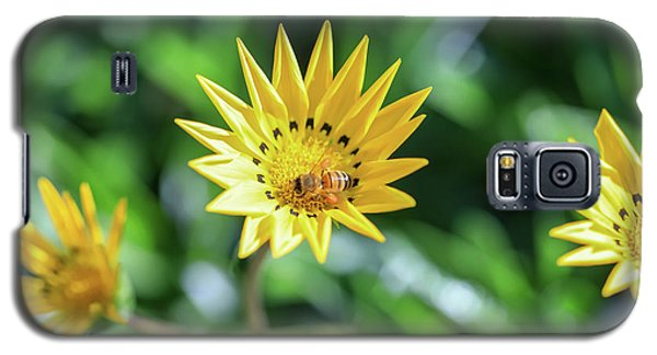 Yellow Flowers And A Bee Galaxy S5 Case
