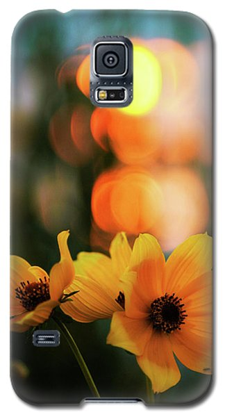 Flowery Bokeh Sunset Galaxy S5 Case